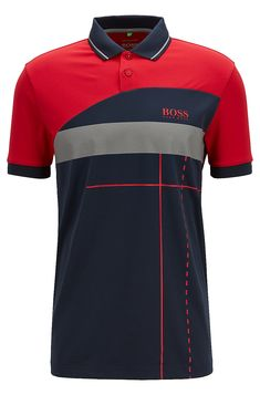 4e51df1b7 Polo regular fit Martin Kaymer con motivo grafico dinamico. Hugo BossPolo  ShirtPolo ...