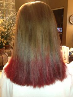 Cat B's kool aid dip dye! I have SUPER dark hair and guess what I didn't even bleach it! But make yourself comfortable in this process because darker hair takes longer, for he kool aid I used two packets of cherry and two packets of fruit punch! Ur welcome -cat b
