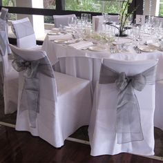 chair covers for sale melbourne outdoor chairs lowes 9 best our images design of flowers floral white with a silver organza sash bouquet wedding sashes