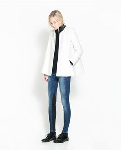 ZARA - TRF - ROUND NECK CAPE JACKET