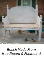 old headboard repurposed...would love to do this withe the full size bed of my parents that matches my bedroom!