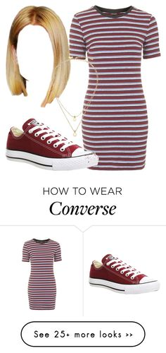 """Untitled #2178"" by nicole-briffa on Polyvore featuring Topshop, Converse and Kate Spade"