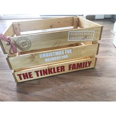 Excited to share this item from my shop: Large Wooden Personalised Christmas Eve crate, Christ Diy Christmas Eve Box, Night Before Christmas Box, Christmas Baskets, Christmas Games, Christmas Wood, Family Christmas, Christmas Crafts, Christmas Eve Box Ideas For Adults, Diy Christmas Presents