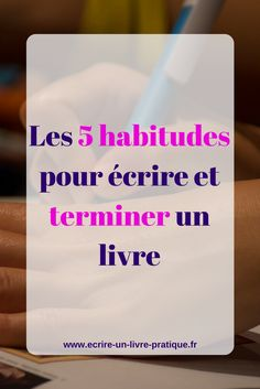 With these 5 habits, writing and finishing a book becomes easier. Book Writing Tips, Writing Prompts, Reading Quotes, Book Quotes, French Expressions, Learning To Write, English Literature, Positive Attitude, Zen Attitude