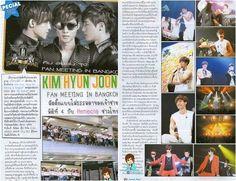 Kim Hyun Joong's Bangkok fan meet spotlighted in a Thai magazine