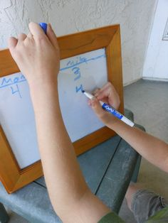 D.I.Y Dry Erase Board and 4 ways to use it