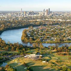 The Indooroopilly golf club basking in the afternoon sun When was the last time you teed off? share your moments by tagging & Best Kept Secret, The Last Time, Brisbane, Golf Clubs, City Photo, Australia, In This Moment, Sun, River