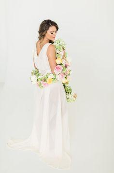 Flower Boa, Katie Lamb Photography for BLUSH, Maxit Flower Design