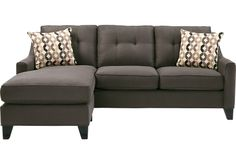 picture of Cindy Crawford Home   Madison Place Slate 2 Pc Sectional  from Sectionals Furniture