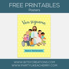 Come, Follow Me – New Testament – Free Primary 2019 Printables Primary Program, Lds Primary, Primary Singing Time, Activity Days, New Testament, Follow Me, Free Printables, Cards, Jesus Christ