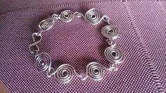 Χειροποίητο βραχιόλι απο αλπακά- Handmade wire bracelet