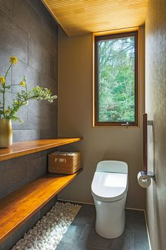 Japanese Style Bathroom, Japanese Home Design, Japanese Style House, Japanese Interior, Bathroom Design Luxury, Modern Bathroom, Home Interior Design, Small Bathroom, Small Toilet Room