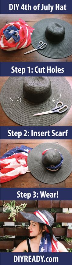 Check out 4th of July| Make Your Own American Flag Hat at http://diyready.com/4th-of-july-craft-projects-make-your-own-american-flag-hat/