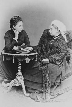 1879 Queen Victorai and daughter Beatrice