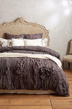 Anthropologie Bedding Georgina Duvet in Dark Grey Furniture, Anthropologie Bedding, Beautiful Bedrooms, Bed Linen Design, Bed Linens Luxury, Home Decor, Bedroom Inspirations, Bed, Luxury Bedding