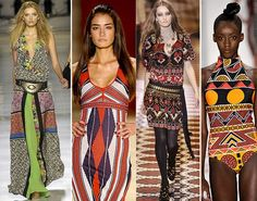 African style inspiration from the catwalk.
