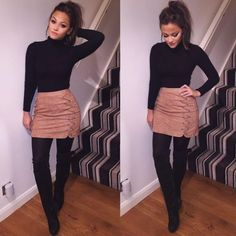 winter outfits for work ~ winter outfits ; winter outfits for work ; winter outfits for school ; winter outfits for going out ; Winter Outfits For Teen Girls, Winter Outfits For Work, Dressy Winter Outfits, Fall Skirt Outfits, Winter Skirt Outfit, Ladies Outfits, Summer Outfits, Black Outfits, Fall Party Outfits
