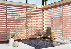 Our Pirouette® shadings feature soft fabric vanes attached to a sheer backing that appear to be floating, drawing natural light into your room. When closed, they look just like a contemporary shade. www.windowdecor.us