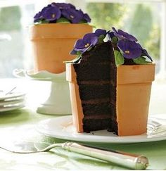 Violets to eat - love this idea for a garden party