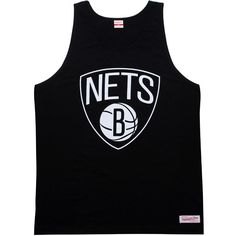 Mitchell and Ness Brooklyn Nets Copy of Blank black tank top