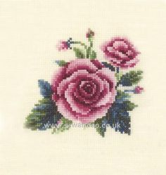 Cross Stitch Kit - Roses by CrossStitchKitsOnly on Etsy Beaded Cross Stitch, Cross Stitch Borders, Cross Stitch Rose, Counted Cross Stitch Kits, Cross Stitch Flowers, Cross Stitch Embroidery, Seed Bead Art, Embroidery Fabric, Applique Quilts