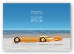 Golden Arrow - Land Speed Record poster