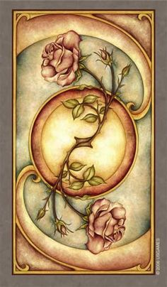I have the Fenestra tarot deck. They're incredibly beautiful and I love working with them. This is the image on the back of the cards.