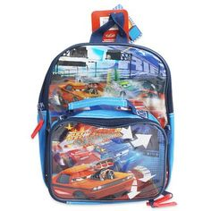 Mini Size Blue Cars Backpack  Disneys CarsBookbag >>> You can get more details by clicking on the image.