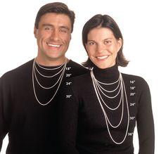 Standard Necklace Sizing Guide - Men & Women