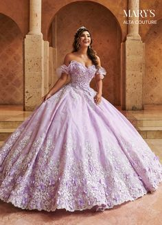 Lace Ball Gowns, Ball Gown Dresses, Bridal Dresses, Xv Dresses, Formal Dresses, Couture Dresses, Vintage Ball Gowns, Prom Dresses, Lavender Quinceanera Dresses
