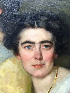 Thérèse Schwartze, 'Mijne huisgenooten' (ca. 1915), detail.  She established an international reputation, with countless exhibitions and commissions throughout Europe and the United States. As a successful artist, she served as a role model to a generation of women painters, most notably to the Amsterdam group known as the Joffers, which included her own niece, Lizzy Ansingh.