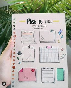 Post It Note doodles for your Bullet Journal Bullet Journal School, Bullet Journal Inspo, Bullet Journal Headers, Bullet Journal Banner, Bullet Journal 2019, Bullet Journal Notebook, Bullet Journal Aesthetic, Bullet Journal Ideas Pages, Bullet Journal Revision