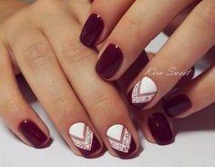 Resultado de imagen para uñas con diseños faciles de hacer para uñas cortas