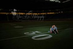 Ford field Detroit lions engagement session Detroit michigan  Football themed engagement photos  port huron wedding photographer michigan wedding photographer Www.missbfoto.com
