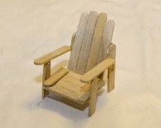 miniature adirondack chair with instructions