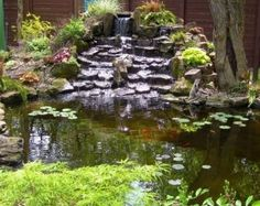Who doesn't dream of a backyard paradise? Today I'm sharing amazing ideas to create that paradise – backyard pond designs! Backyard Water Feature, Ponds Backyard, Koi Ponds, Pond Landscaping, Landscaping With Rocks, Pond Fountains, Pond Waterfall, Natural Pond, Pond Design