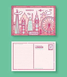 London Postcard by Enisaurus.