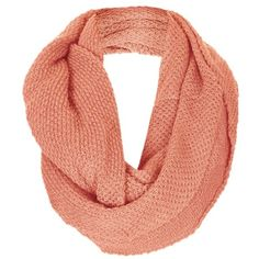 Topshop Basket Stitch Infinity Scarf Womens Berry One Size One Size ($32) ❤ liked on Polyvore featuring accessories, scarves, infinity scarf, circle scarf, loop scarf, tube scarf and round scarf
