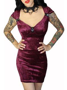 "Women's ""Wine Me"" Corset Back Dress by Demi Loon | Inked Shop"