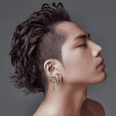 Image may contain: 1 person, closeup Mullet Hairstyle, Asian Men Hairstyle, Asian Hair, Hair And Beard Styles, Curly Hair Styles, Hair Reference, Haircuts For Men, Hair Designs, Hair Inspo