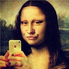Detail of the background (right side) (Photo credit: Wikipedia ) The Mona Lisa (or La Joconde, La Gioconda). Duckface, Lisa Gherardini, Mona Lisa Parody, Mona Lisa Smile, Mo S, Funny Art, Funny Faces, Oeuvre D'art, Art History