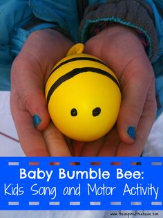 The Baby Bumblebee song with a twist! Make your own bee and follow along with the FREE PRINTABLE of this song that we have adapted to encourage #finemotor #strengthening #gross motor skills and more!