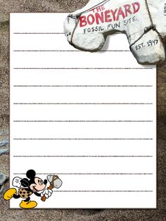 """The Boneyard - Animal Kingdom - Project Life Journal Card - Scrapbooking ~~~~~~~~~ Size: 3x4"""" @ 300 dpi. This card is **Personal use only - NOT for sale/resale** Logo/clipart belong to Disney *** Click through to photobucket for more versions of this card ***"""