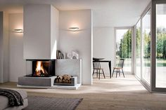 The fireplace is usually used to warm the room, with this you can save more electricity if you use a heater from electricity. Fireplace as we know it is a Home Interior, Living Room Interior, Interior Decorating, Interior Design, Beautiful Living Rooms, Living Room Modern, Color Beige Pared, Traditional Fireplace, Fireplace Design