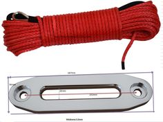 59.99$  Buy now - http://alimkv.shopchina.info/go.php?t=32801191425 - Free Shipping Red 6mm*30m Winch Rope with 4500lbs Aluminium Hawse  Fairlead,Synthetic Rope,Plasma Rope,ATV Winch Line  #shopstyle