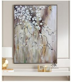 Large Abstract Oil Painting Textured painting Gold Leaf Painting Brown Original Art, Abstract Wall Decor, Canvas Art by Julia Kotenko Abstract Painting Techniques, Abstract Painters, Oil Painting Abstract, Texture Painting, Large Painting, Abstract Flower Art, Painted Leaves, Art Paintings, Flower Tree