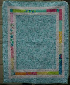 "Quilt back - ""framed"" - posted at {Sisters and Quilters}"