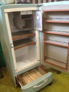 "Vintage GE Refrigerator turned pantry.  As seen on ""Salvage Dawgs"" featuring Black Dog Salvage in Roanoke, VA. www.blackdogsalvage.com"
