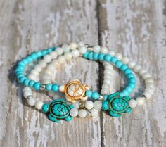 NEW Swimming Sea Turtle Bracelets