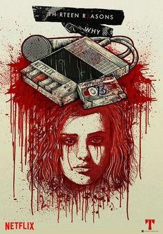 My fan art for 13 reasons why of Netflix Www.facebook.com/yosoytrockz #13reasonswhy